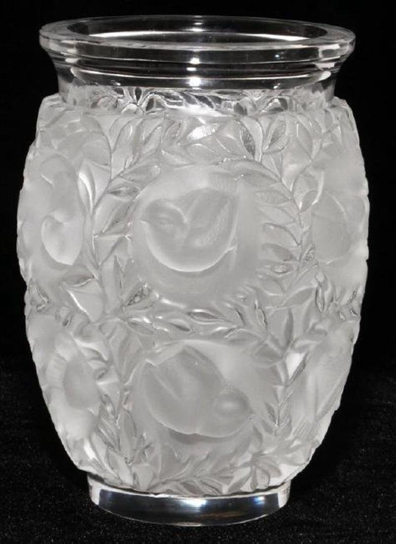 LALIQUE BAGATELLE CLEAR & FROSTED GLASS VASE
