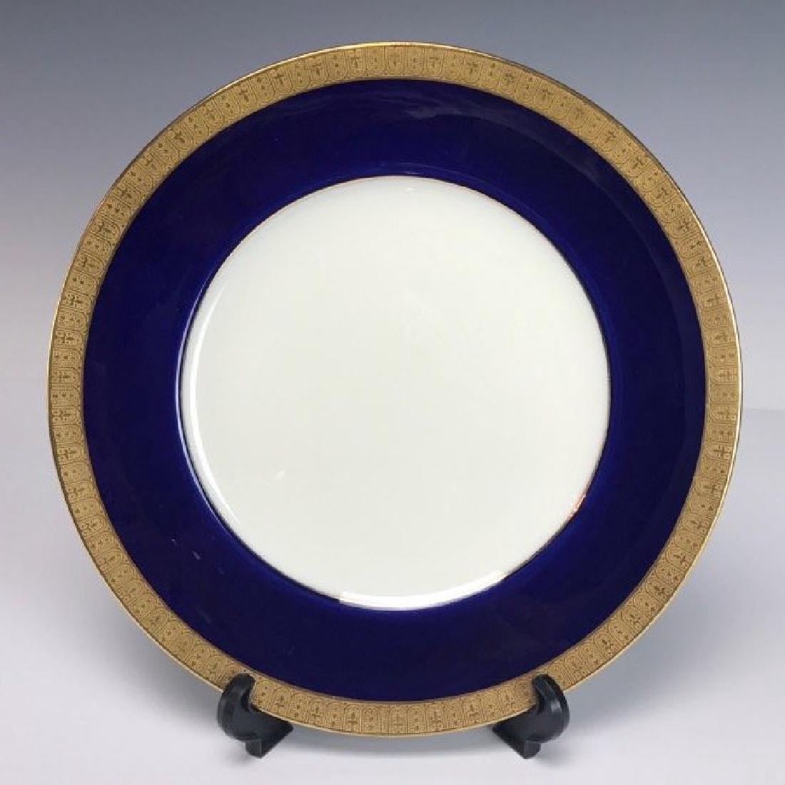 SET OF 14 VICTORIAN CAULDON PORCELAIN DINNER PLATES - 2