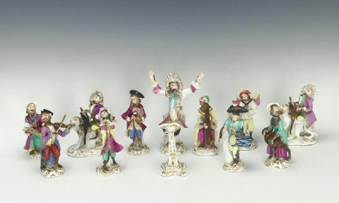 19TH C. MEISSEN/DRESDEN MONKEY BAND