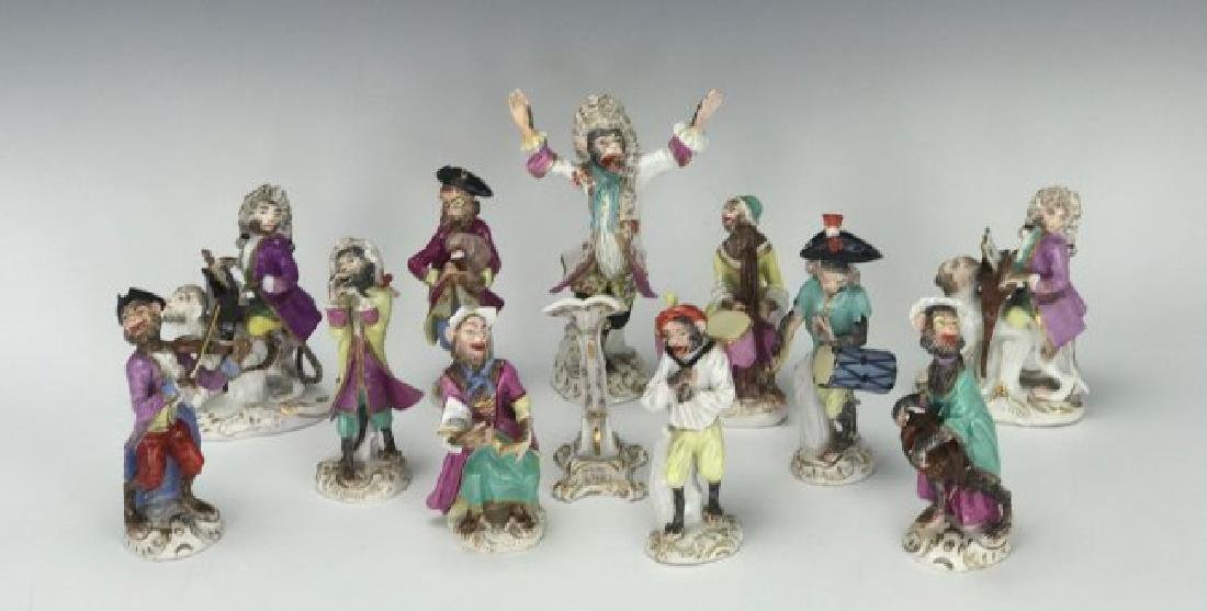19TH C. MEISSEN/DRESDEN MONKEY BAND - 3
