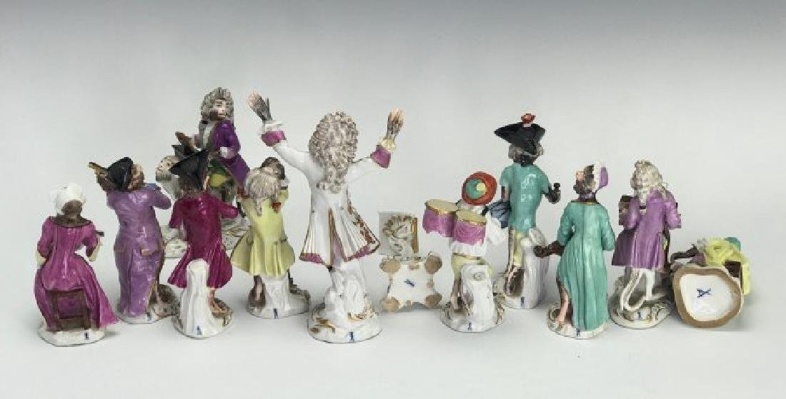 19TH C. MEISSEN/DRESDEN MONKEY BAND - 4