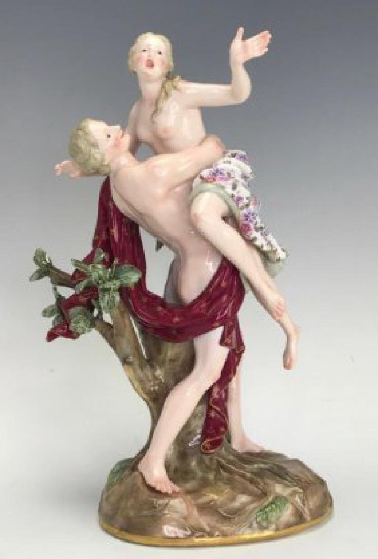 A LARGE 19TH C. MEISSEN GROUP OF THE RAPE OF SABINE