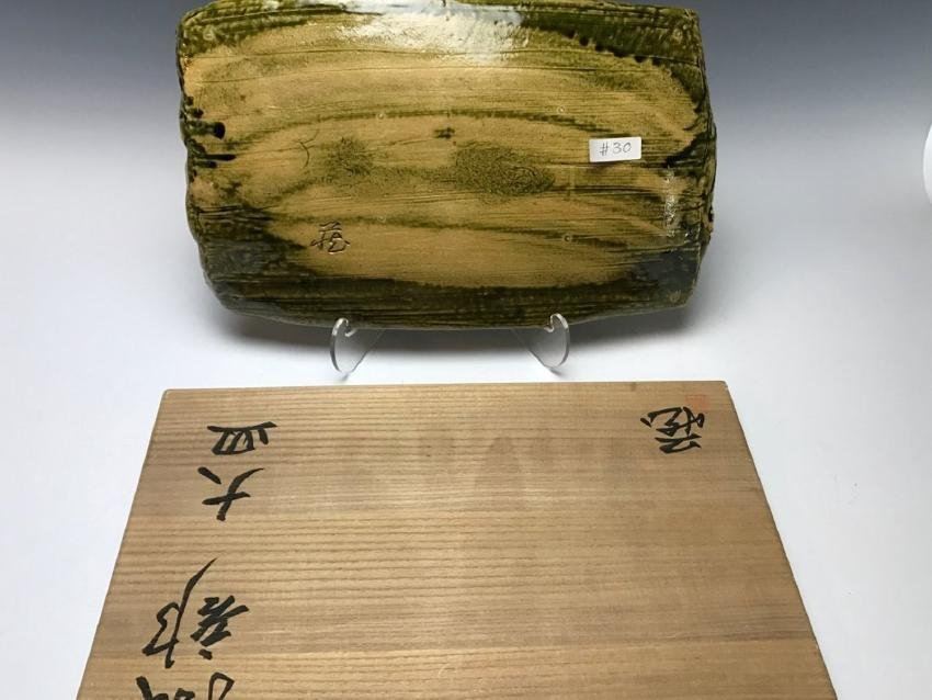 A LARGE JAPANESE CLAY TRAY - 3