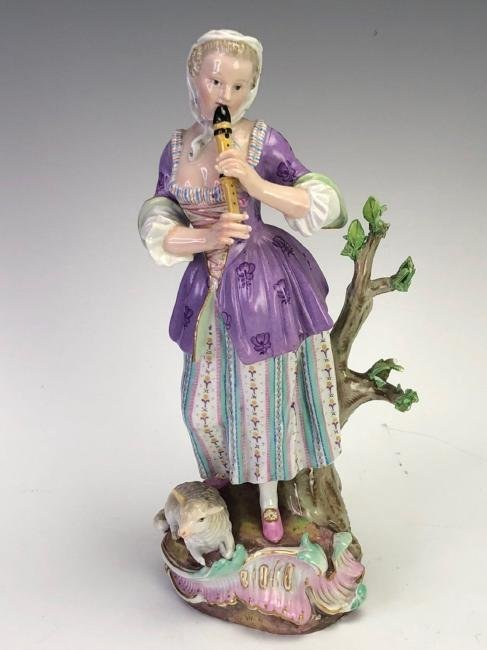 LARGE 19TH C. MEISSEN FIGURE