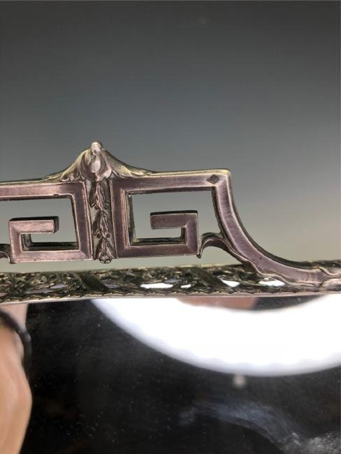 19TH C. GERMAN SILVER & CUT GLASS LIQUOR SET - 5
