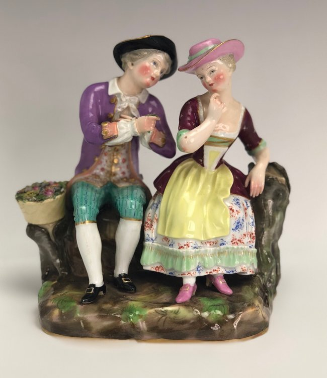 19TH C. MEISSEN GROUP OF LOVERS
