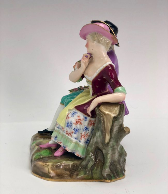 19TH C. MEISSEN GROUP OF LOVERS - 2