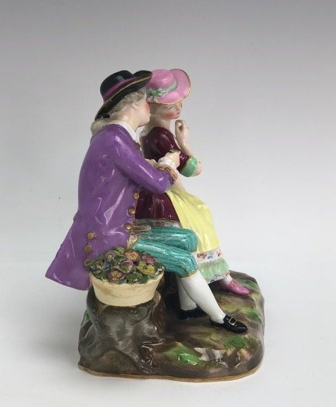 19TH C. MEISSEN GROUP OF LOVERS - 3