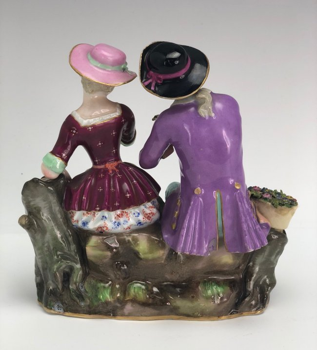19TH C. MEISSEN GROUP OF LOVERS - 4