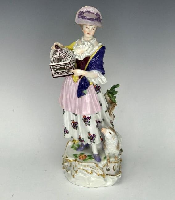 A LARGE 19TH C. MEISSEN FIGURE