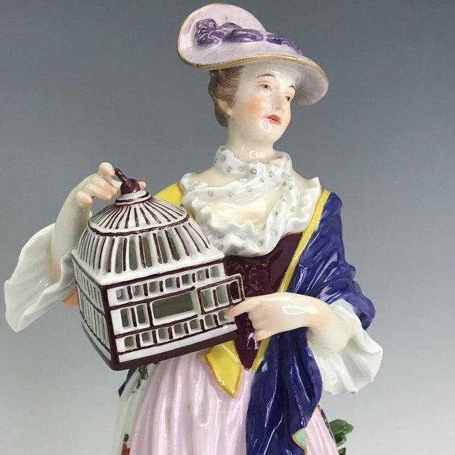 A LARGE 19TH C. MEISSEN FIGURE - 2