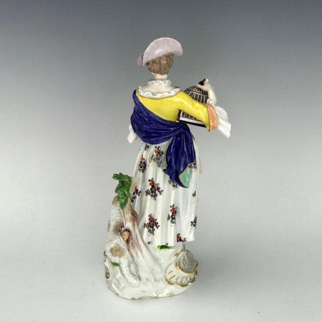 A LARGE 19TH C. MEISSEN FIGURE - 4
