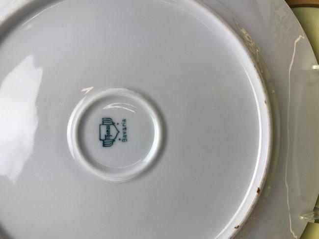 SET OF 10 BAVARIA PORCELAIN DINNER PLATES - 2