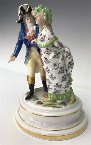 A LARGE MEISSEN GROUP