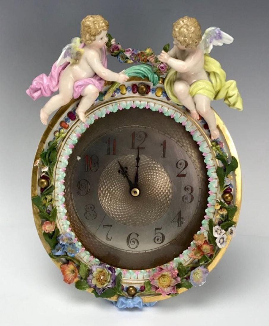 19TH C. MEISSEN CLOCK