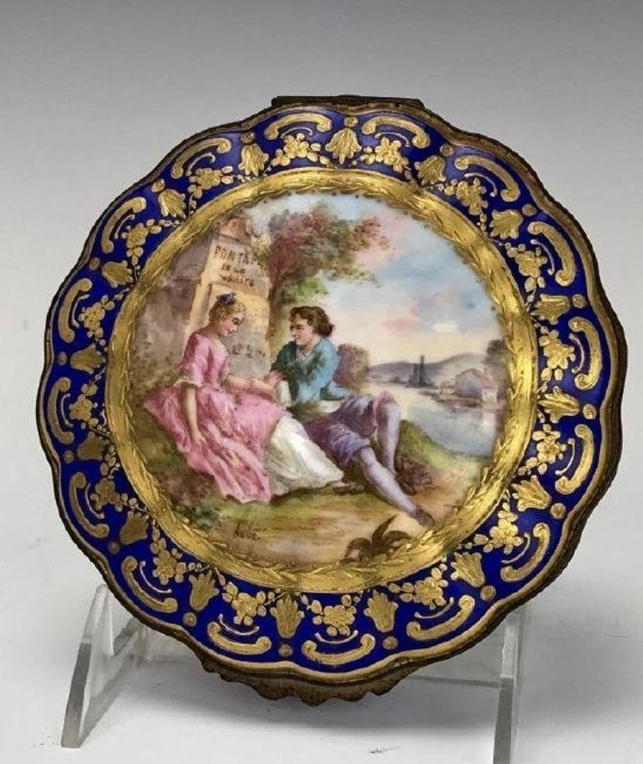 SEVRES PORCELAIN BOX CIRCA 1850