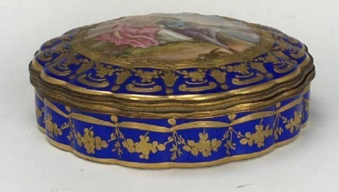 SEVRES PORCELAIN BOX CIRCA 1850 - 2
