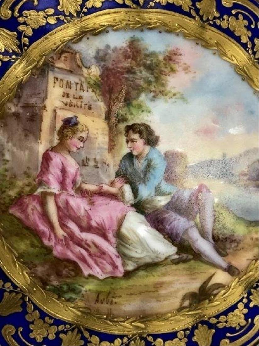 SEVRES PORCELAIN BOX CIRCA 1850 - 3