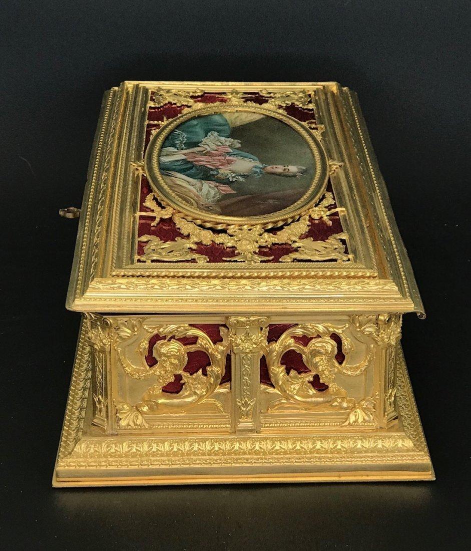 A MAGNIFICENT FRENCH ENAMEL JEWLRY BOX - 3