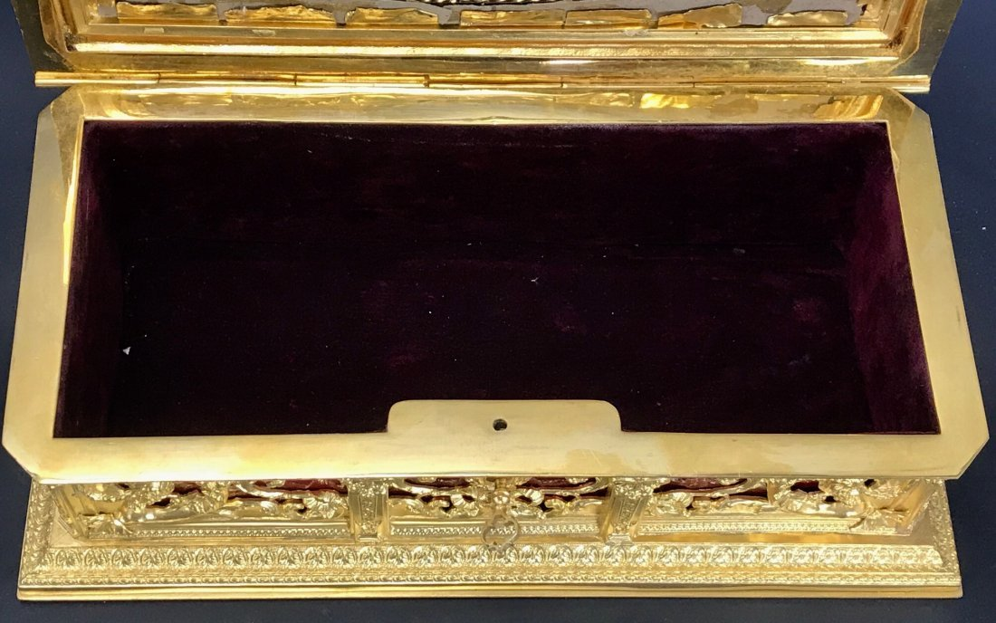 A MAGNIFICENT FRENCH ENAMEL JEWLRY BOX - 5