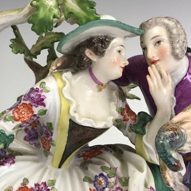 A LARGE 19TH C. MEISSEN GROUP - 2