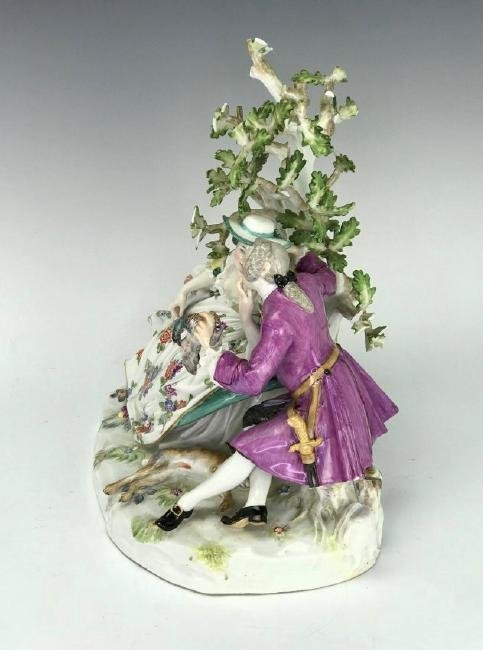 A LARGE 19TH C. MEISSEN GROUP - 4