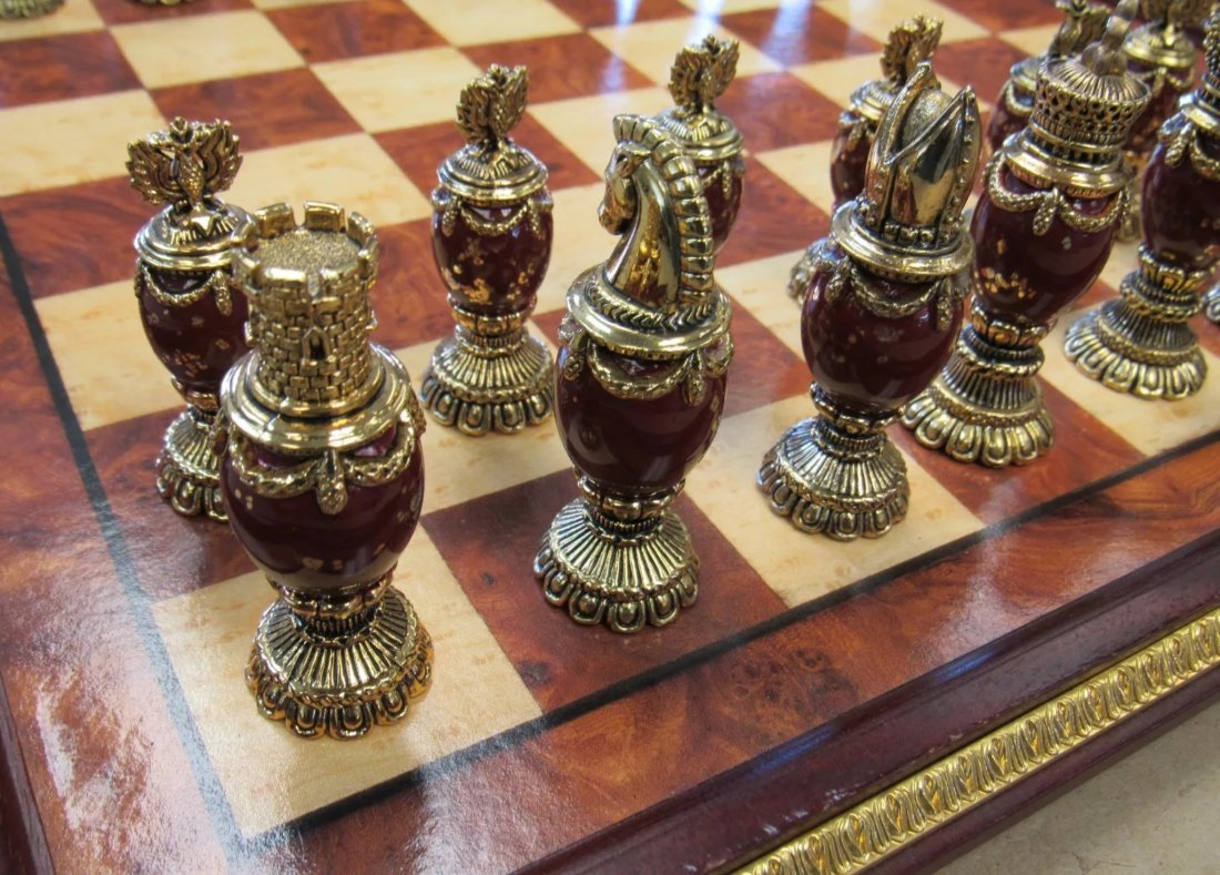 IMPERIAL FABERGE JEWELED CHESS SET - 2