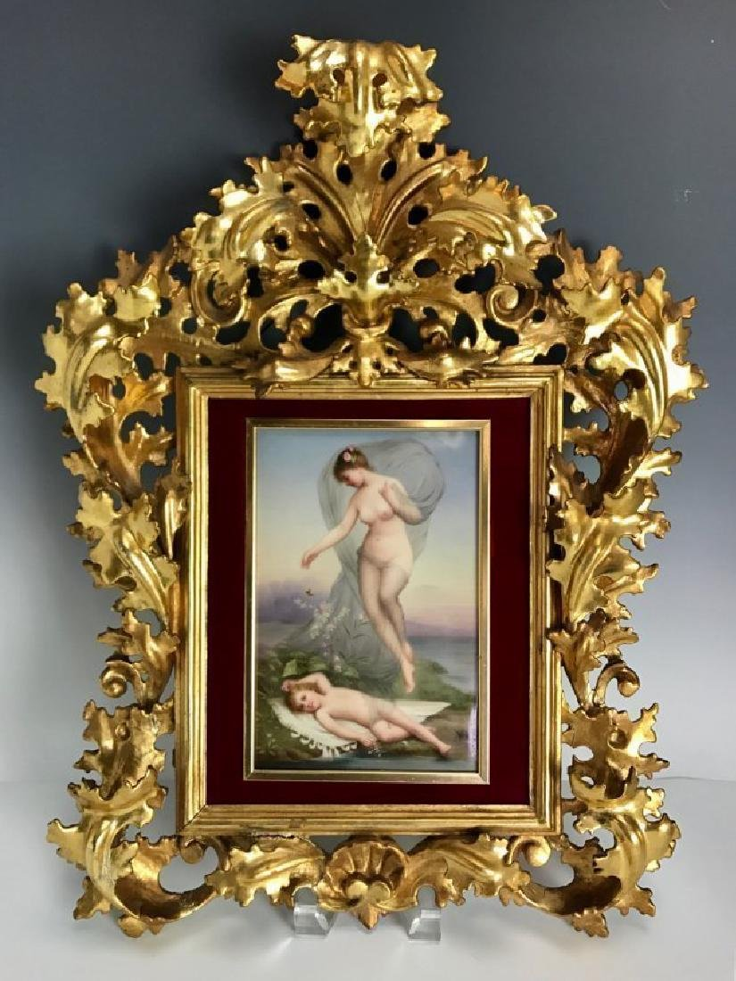 A MAGNIFICENT BERLIN KPM PORCELAIN PLAQUE