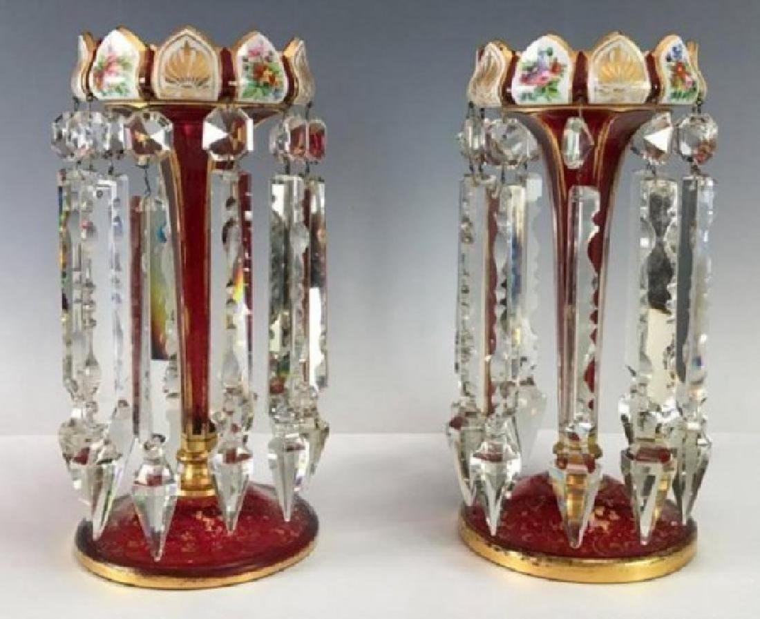 A PAIR OF 19TH C. BOHEMIAN GLASS LUSTERS