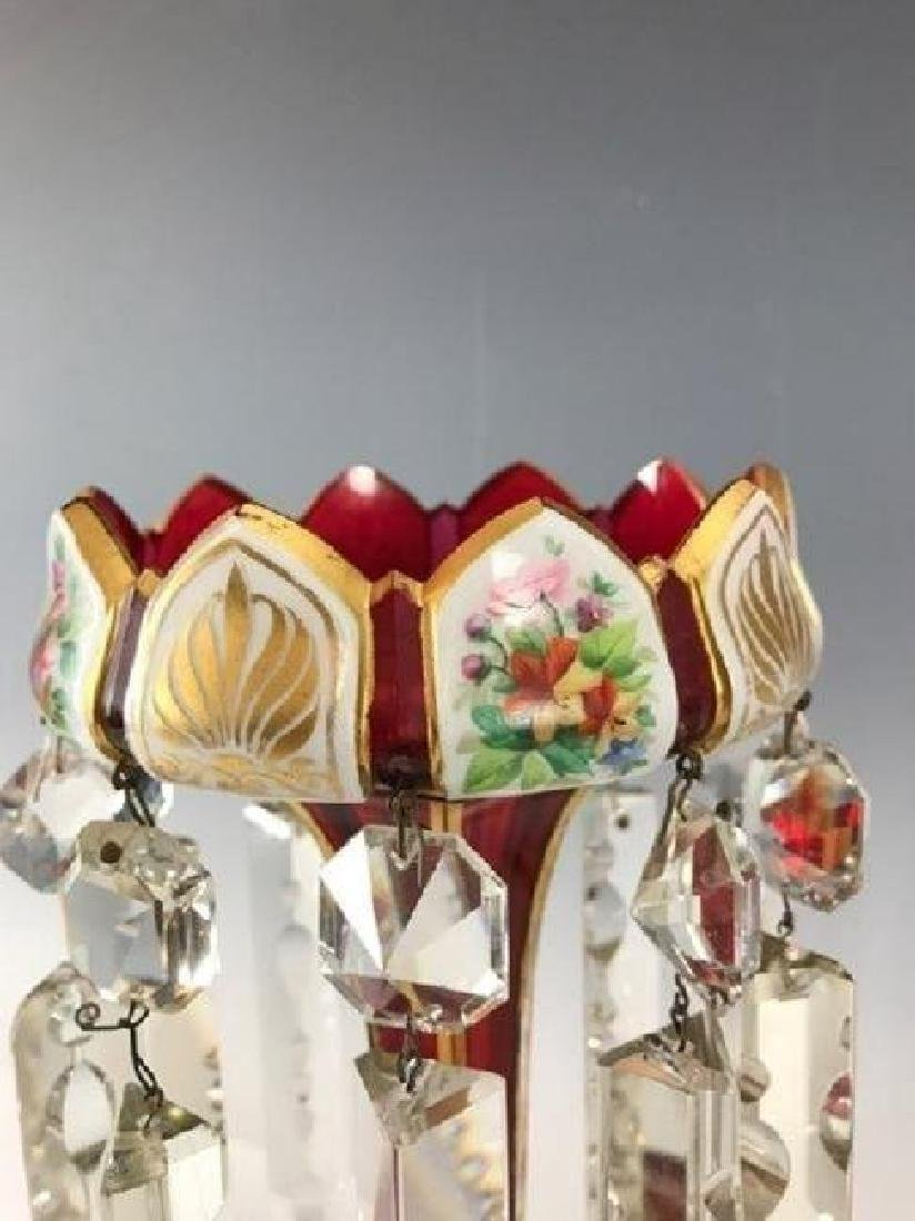 A PAIR OF 19TH C. BOHEMIAN GLASS LUSTERS - 4