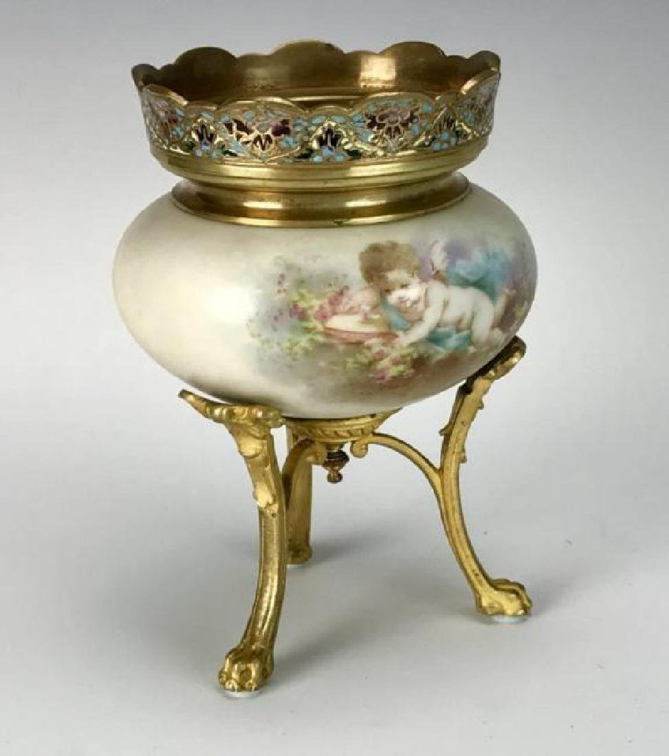 19TH C. ORMOLU MOUNTED SEVRES PORCELAIN VASE