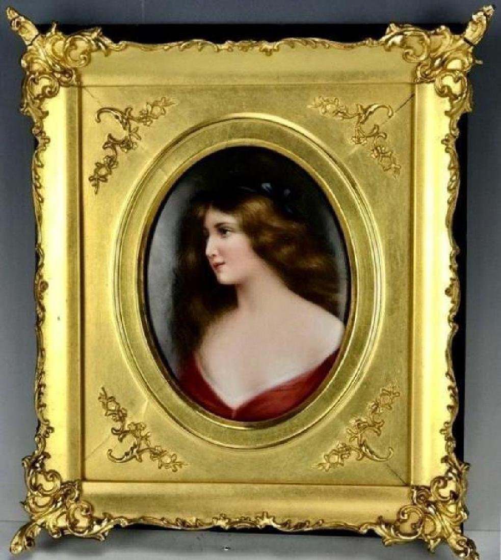 19TH C. KPM STYLE PORCELAIN PLAQUE SIGNED WAGNER