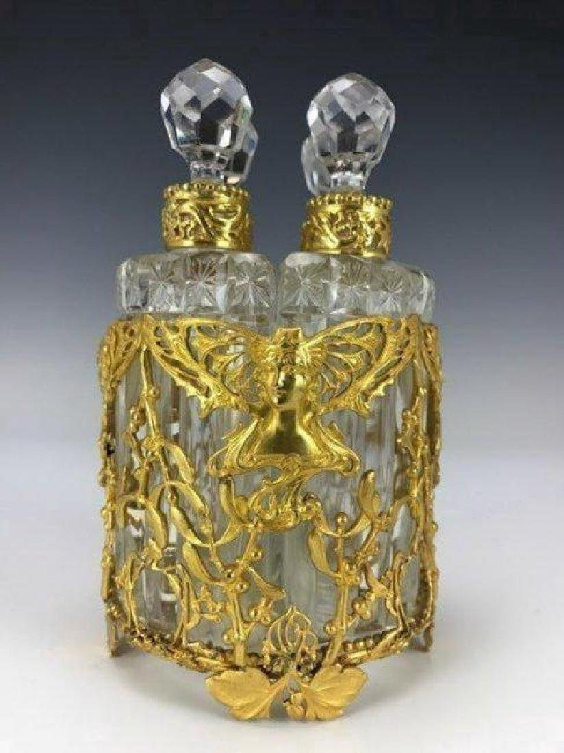 A VERY FINE DORE BRONZE AND BACCARAT GLASS PERFUME
