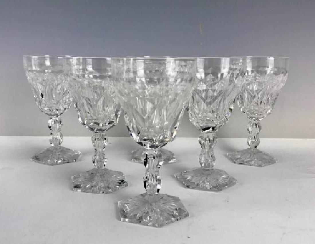 SET OF 6 VAL ST. LAMBERT WINE GLASSES