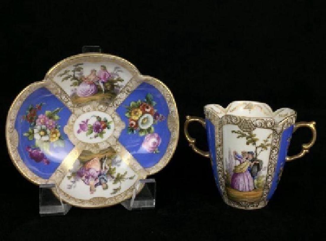 19TH CENTURY HELENA WOLFSOHN CUP AND SAUCER