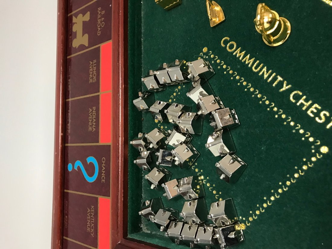 A FRANKLIN MINT COLLECTOR\'S EDITION MONOPOLY GAME - 3