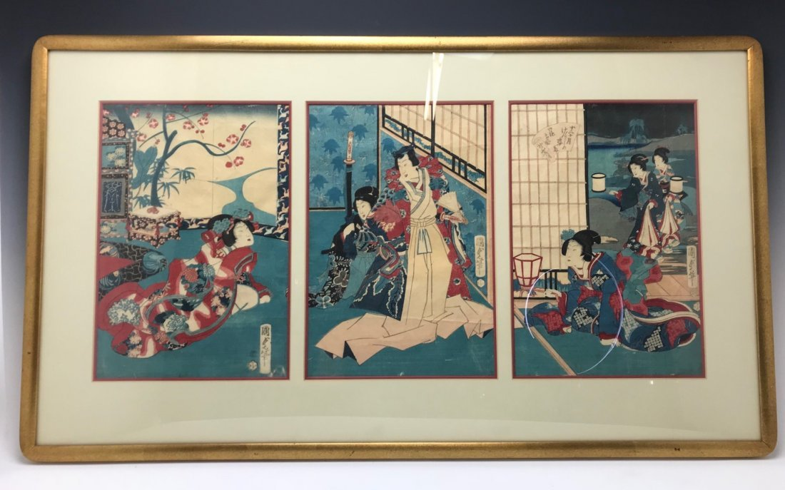19TH C. JAPANESE PAINTING ON RICE PAPER