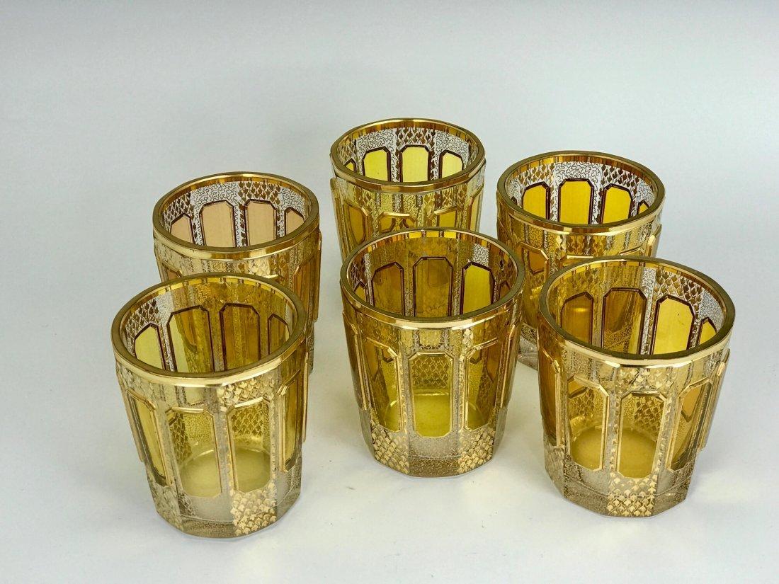 SET OF 6 GILT MOSER GLASSES - 2