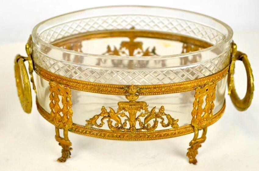 A DORE BRONZE MOUNTED BACCARAT CRYSTAL BOWL