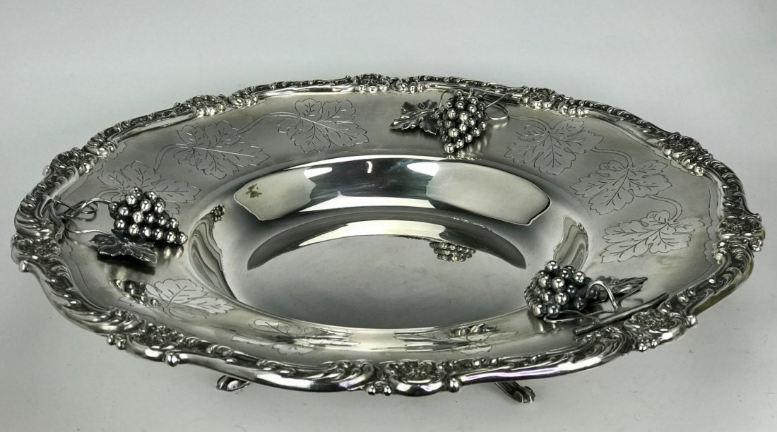 A LARGE STERLING SILVER DISH