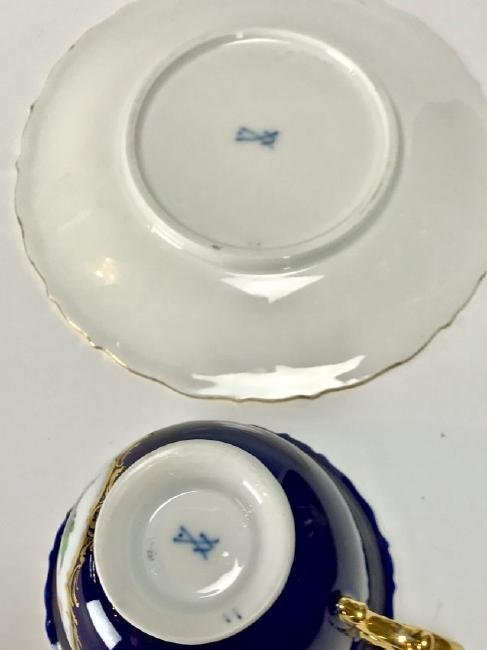 ANTIQUE MEISSEN CUP AND SAUCER CIRCA 1924/1934 - 3