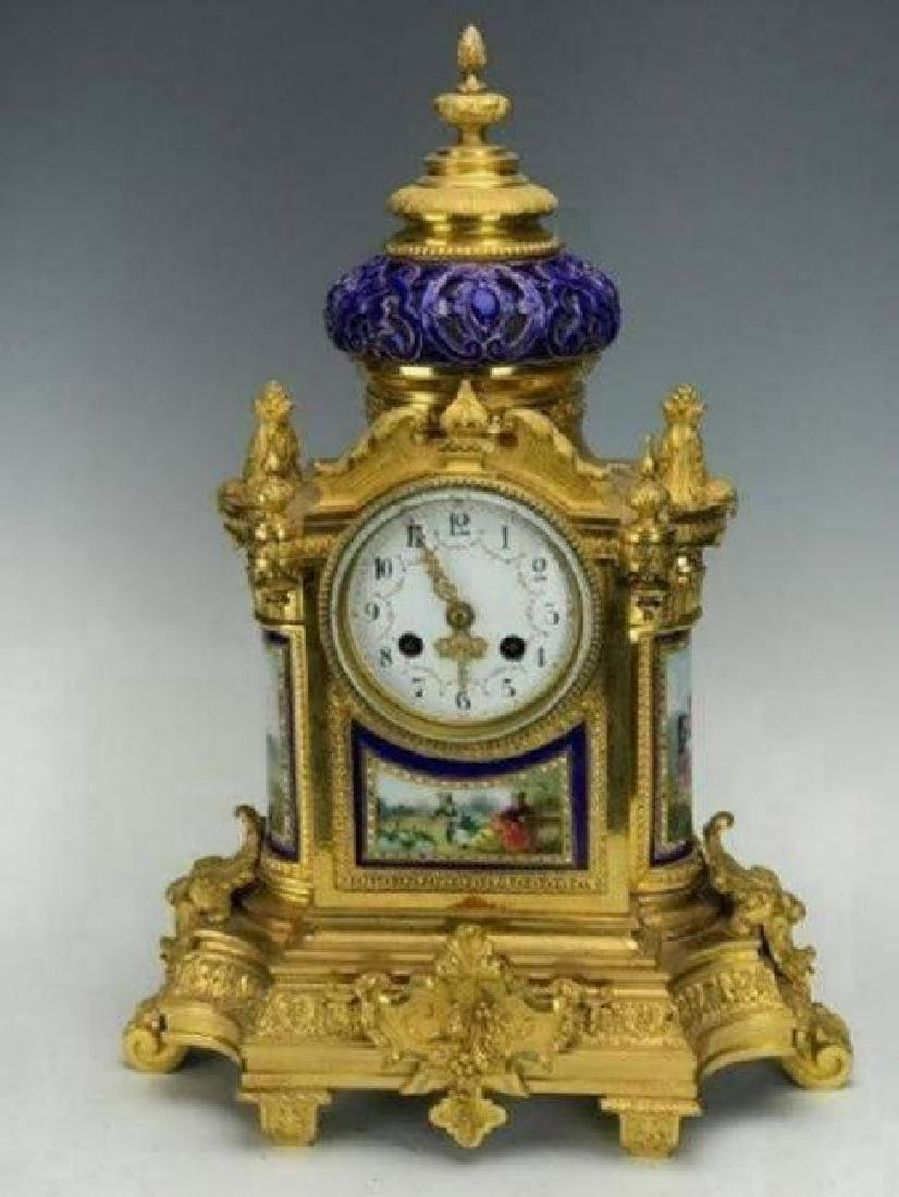 19TH C. ORMOLU MOUNTED SEVRES CLOCK