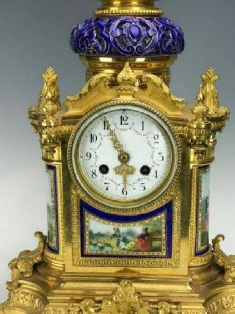 19TH C. ORMOLU MOUNTED SEVRES CLOCK - 2