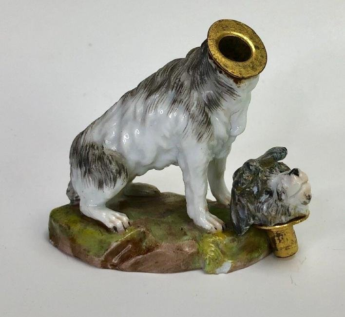 19TH C. MEISSEN PERFUME BOTTLE - 2