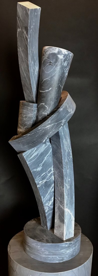 A MID CENTURY ABSTRACT MARBLE SCULPTURE - 2