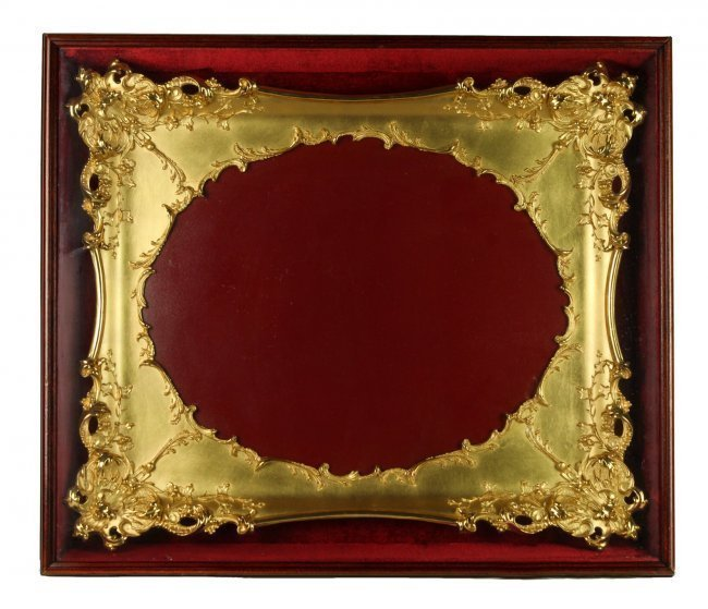 A MAGNIFICENT LARGE GILTWOOD FRAME