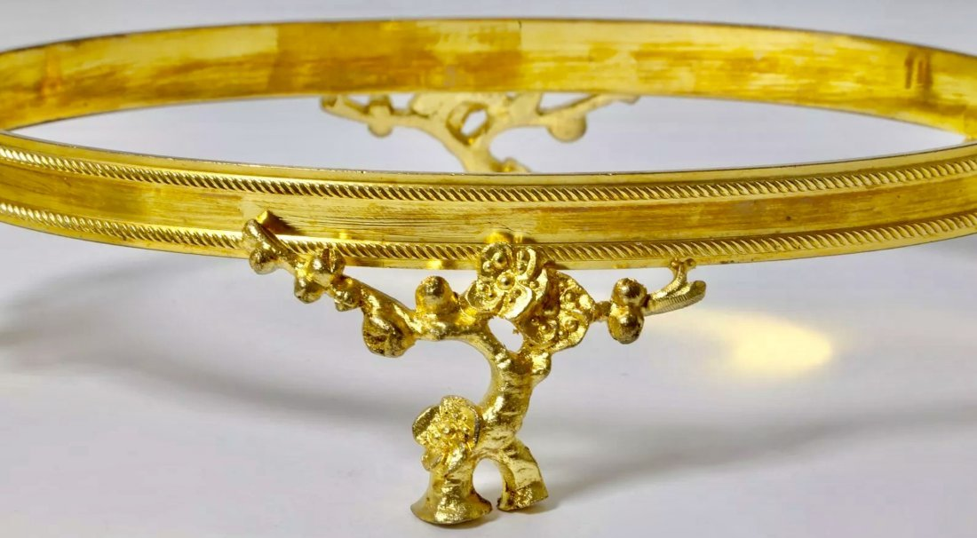 A JAPONAISM DORE BRONZE AND BACCARAT CRYSTAL BOWL - 2