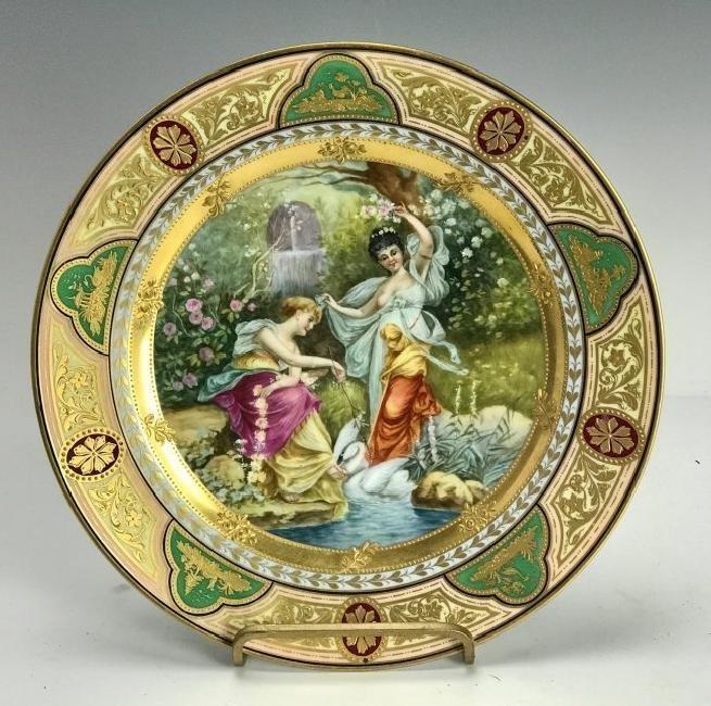 A ROYAL VIENNA PLATE CIRCA 1900