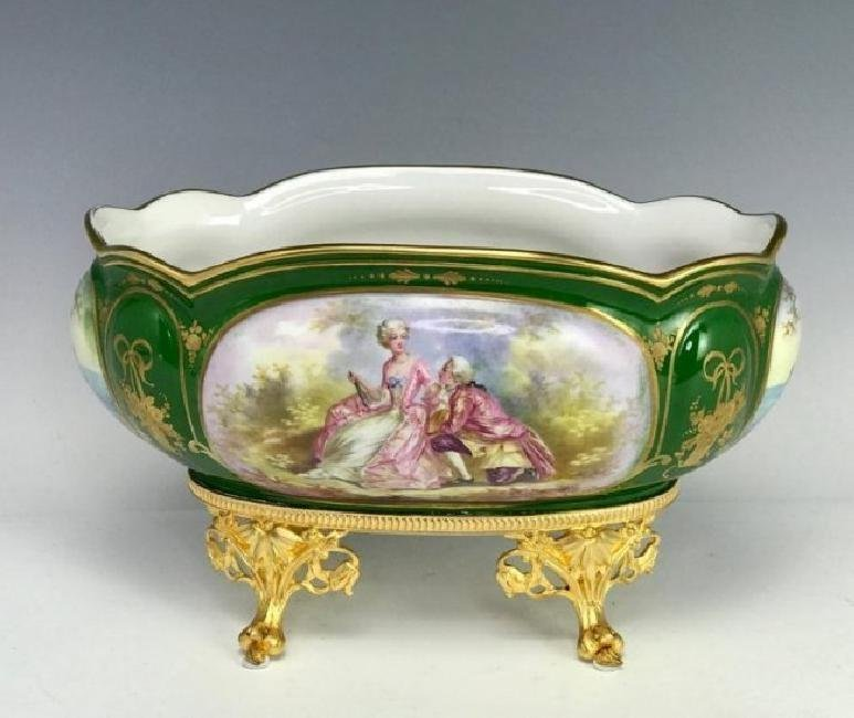 19TH C. SEVRES AND DORE BRONZE CENTERPIECE