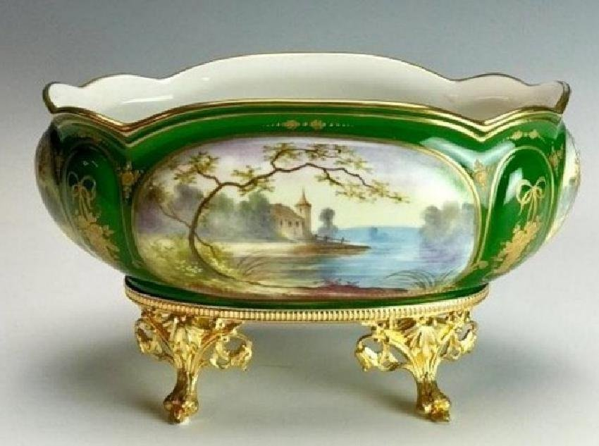 19TH C. SEVRES AND DORE BRONZE CENTERPIECE - 2